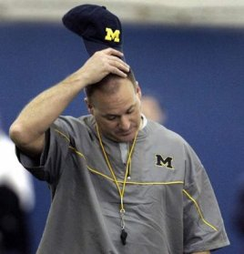 Michigan coach Rich Rodriguez